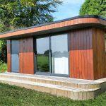 Luxury garden room, Curved roof, Bespoke garden office