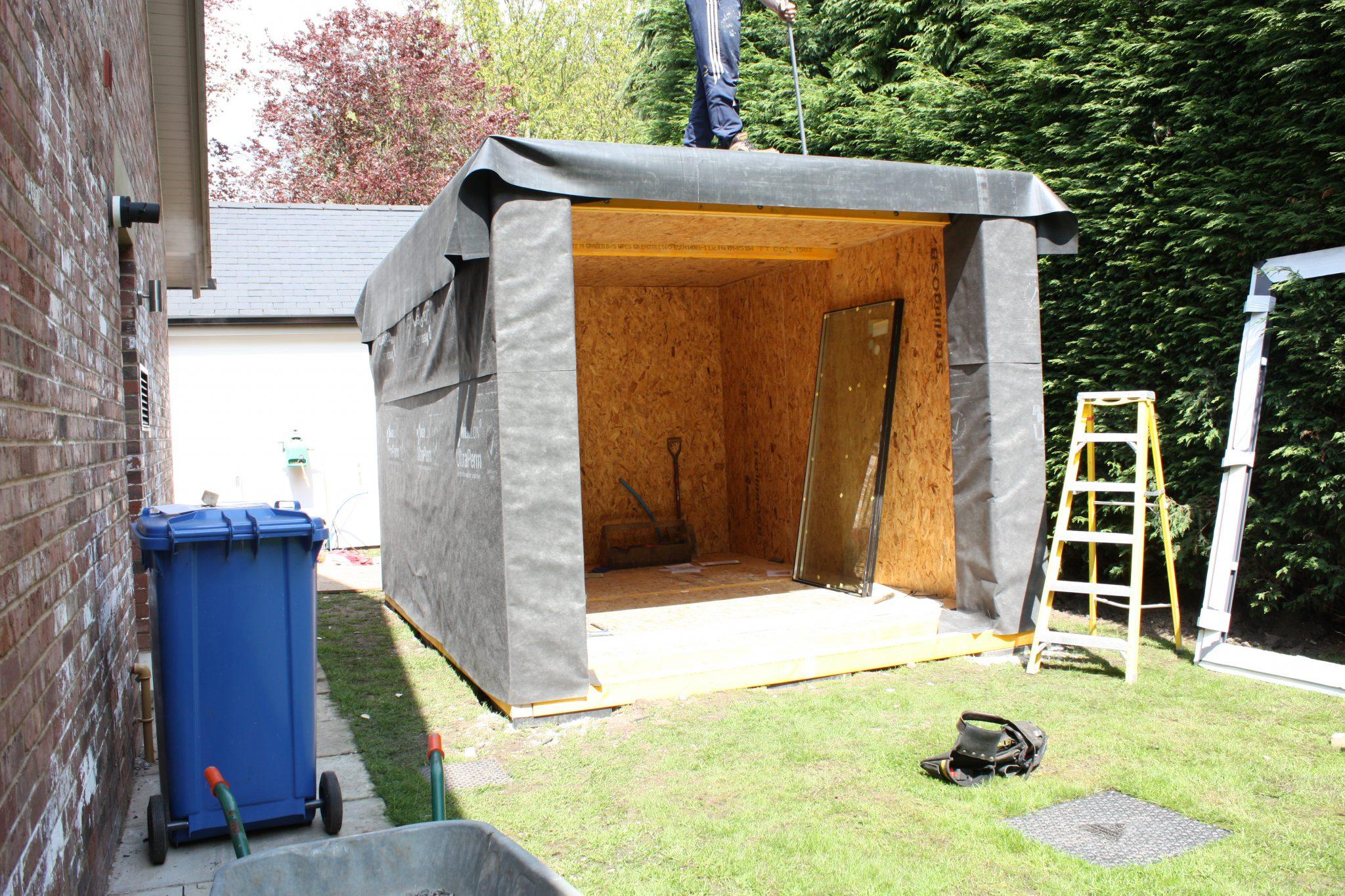 Garden room installation