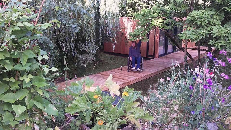 delighted client, garden rooms, art studios