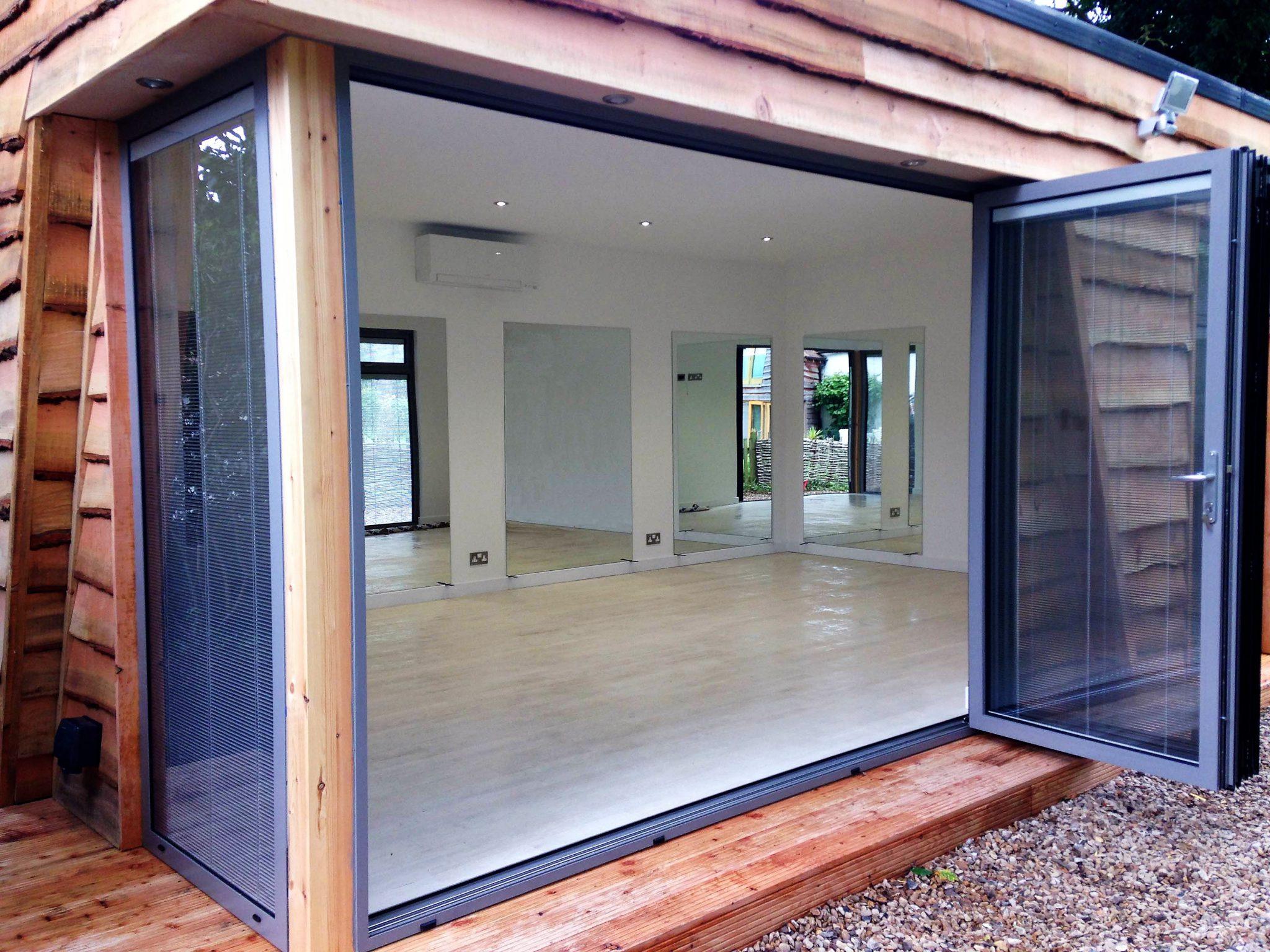 Garden room with bi folding doors swift garden rooms