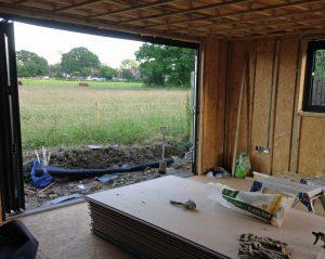living annexe garden room build view