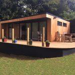 Luxury garden room with deck