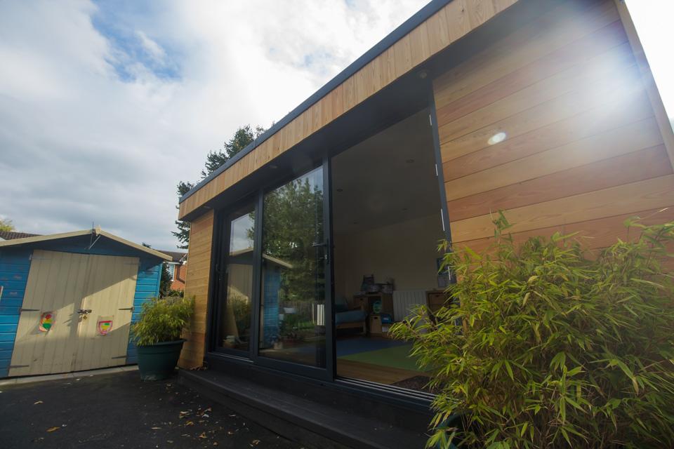 Garden room classroom exterior