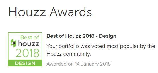 Houzz design winner 2018