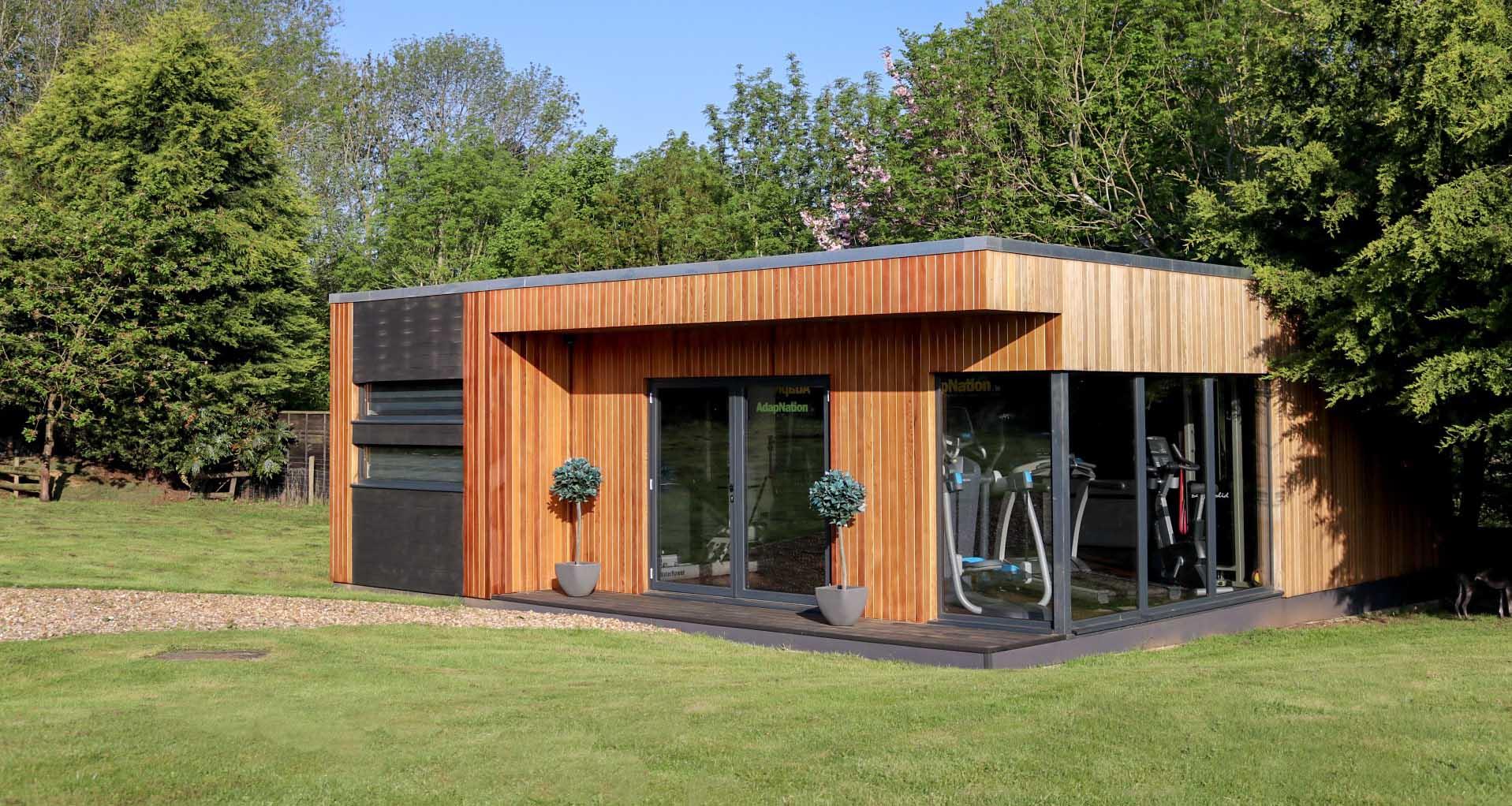 Garden room gym in cambridgeshire composite garden rooms