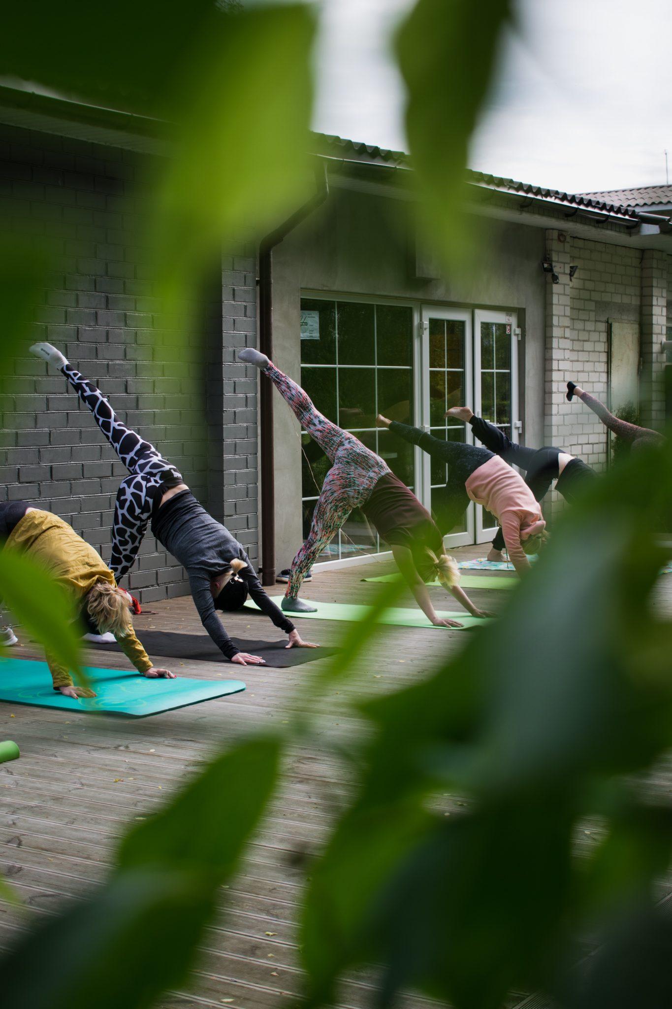 Yoga room outside space