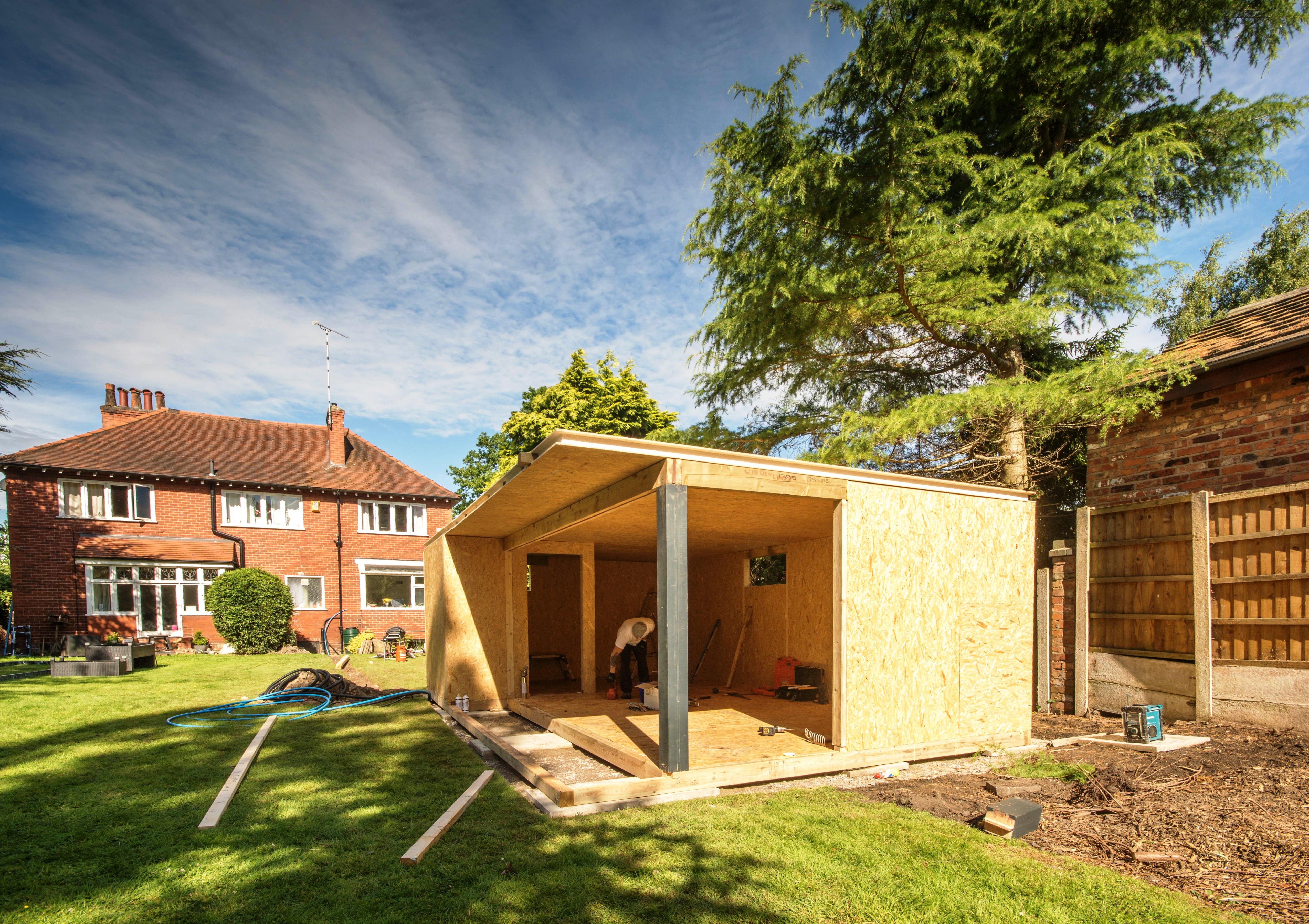 Bespoke garden room installation