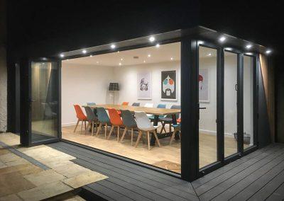 Garden room entertainment space