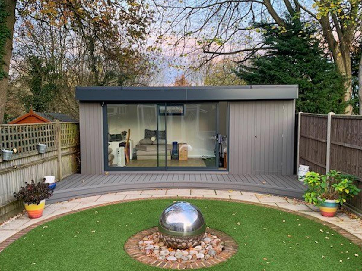 Surrey Garden Office in landscaped gardens