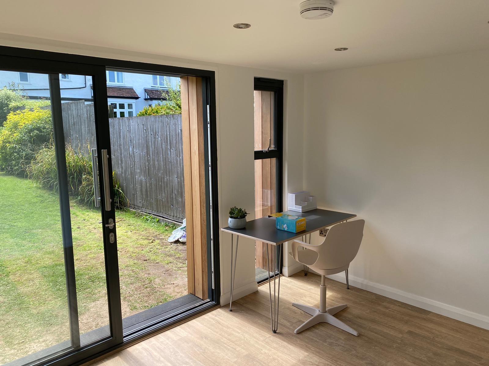 Garden office interior - Bristol