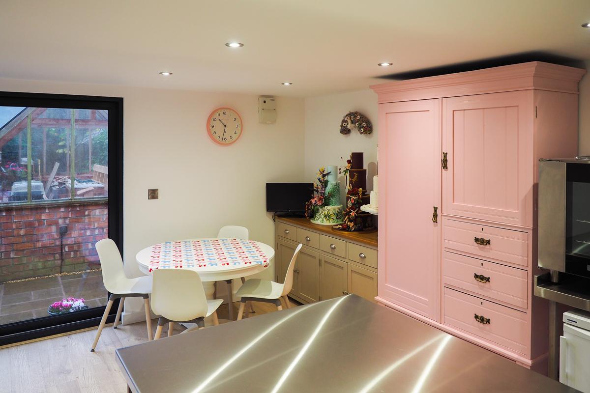 Cake baking studio interior