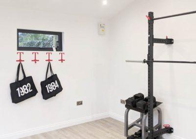 Prestbury garden gym interior