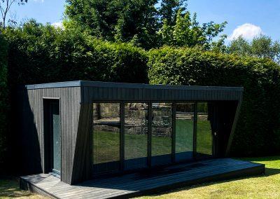 Bespoke garden gym with composite cladding