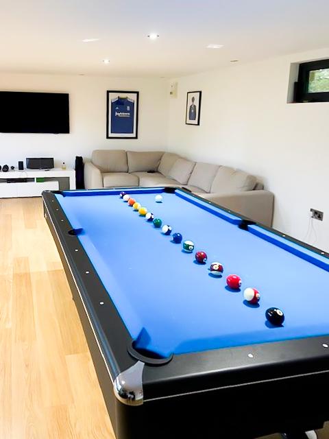 Bespoke garden room, multipurpose with pool table